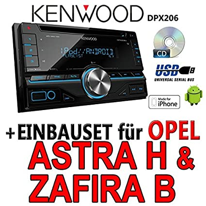 Opel astra h, zafira b argent-kenwood dPX 206-2DIN uSB