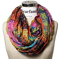 Scarfand's Mixed Color Infinity Scarf…