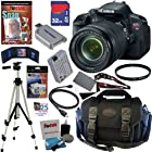Canon EOS Rebel T4i 18.0 MP CMOS Digital SLR Camera with EF-S 18-135mm f/3.5-5.6 IS STM Zoom Lens + 12pc Bundle 32GB Deluxe Accessory Kit