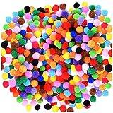 Acerich 2000 Pcs 1cm Assorted Pompoms Multicolor Arts and Crafts Fuzzy Pom Poms Balls for DIY Creative Crafts Decorations (Color: 2000 Pcs, Tamaño: One Size)