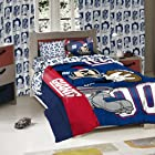 Licensed Disney Mickey Mouse NFL New York Giants Character Comforter and Sham Twin Set