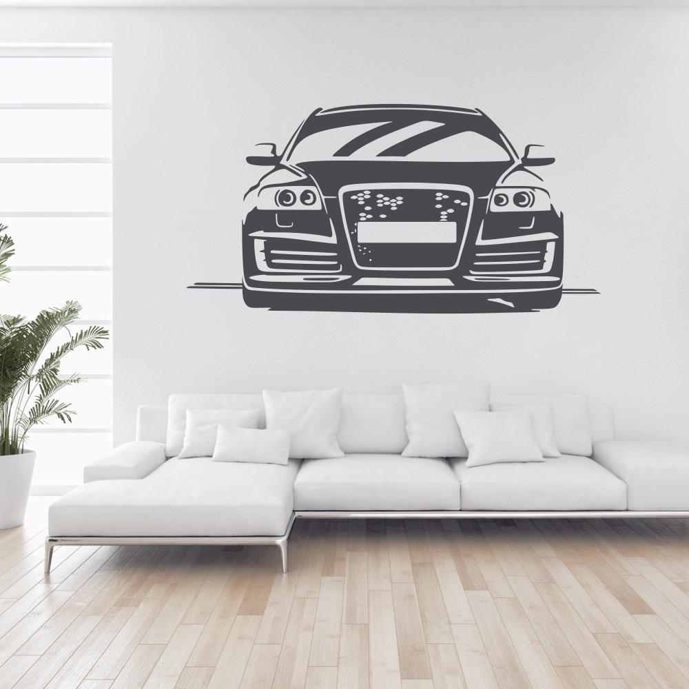 Wandtattoo  Auto A6 S6 Tuning Wand Tattoo Wandaufkleber Fahrzeug Autowelt Quattro Design Style Aufkleber ca. 200 x 101 cm anthrazit   Kritiken und weitere Informationen