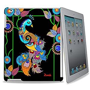 Kolorobia Elegant Peacock 3D Back Cover for Apple iPad (Multi Color)