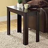 Monarch Specialties Cappuccino Finish Accent Side Table