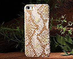 Iphone 5S Case,E-Age Luxury Genuine Snake Skin Leather Case Hard-Shell Cover for iPhone 5/5S (A1)