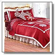 Crystal Snowflake Cotton Full/Queen Quilt Set