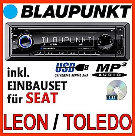 Seat leon 1 m, 2 &toledo 1 m-bLAUPUNKT amsterdam 130 cD/mP3/uSB avec kit de montage
