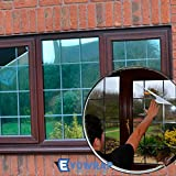 Silver Reflective Window Film (Solar Control & Privacy Tint - One Way Mirror / Mirrored Glass) (50cm x 1 metres)