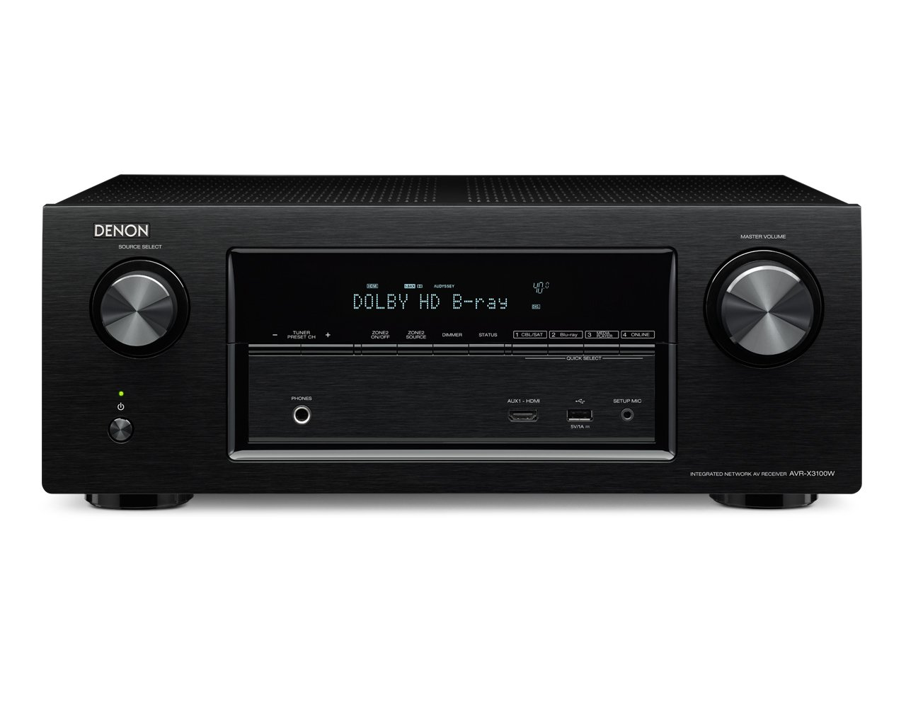 Denon AVR-X3100W 7.2 Channel Full 4K Ultra HD A/V Receiver with Bluetooth and Wi-Fi (Discontinued by Manufacturer)