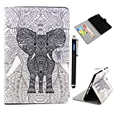 iPad mini Case,Apple iPad Mini 2 Retina Case Cover,Vogue shop Colorful Wallet Design Magnetic PU Leather stand Case Smart Cover For Apple iPad Mini 1/2/3 (7.9 Inch Tablet) with Stylus (Wake/Sleep Function)+ Screen protector with Built-in Stand and Front/Back Protection[Stand Feature Card Slot ]iPad mini 1&2&3 Cover ,Folio Leather Smart Cover iPad Case(Latest Version with Built-In Magnet),Full Body Hybrid Protective Case [with Credit Card cards& Cash slots],Fashion Vintage Cartoon Cute Design Flip Leather Smart Case for Apple iPad Mini 1/2/3 with Free Random Color Handwritten vogue Touch Screen Stylus (vogue shop-Grey Elephant)