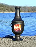 The-Blue-Rooster-Cast-Aluminum-Venetian-Chiminea-with-Gas-in-Gold-Accent