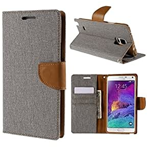 Relax And Shop Premium Look Wallet Style Flip Cover For MOTOROLA MOTO G2 - Grey /Camel