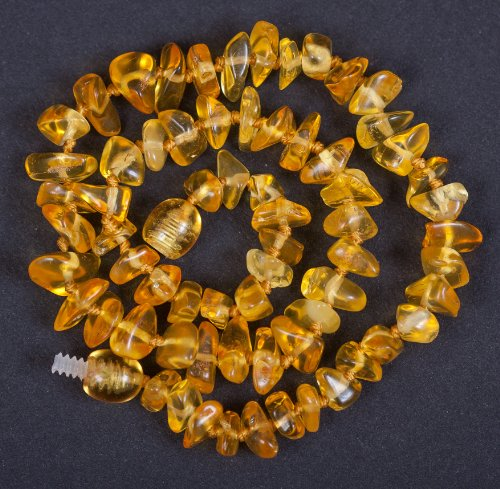Polished Baltic Amber Teething Necklace 13'