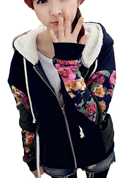Harajuku Fashion Floral Students Baseball Jersey Hoodie Jacket