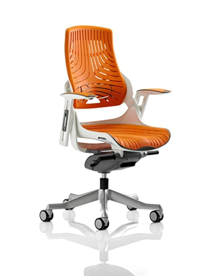 """dynamique Ex000133Zure Executive élastomère """"Gel"""" Chaise avec accoudoirs–Orange"""
