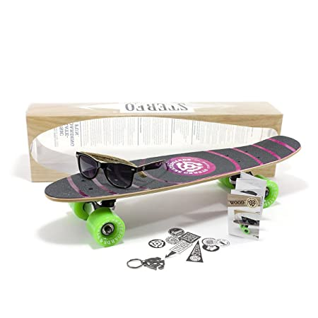 Stereo Wood Vinyl Cruiser Skateboard