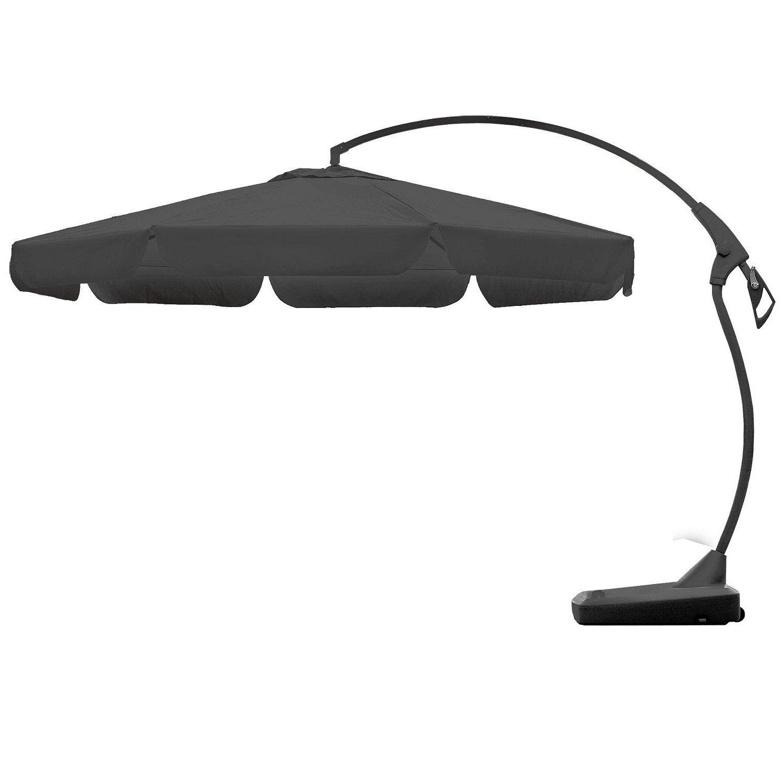 Set Sonnenschirm Ø3,5m + Ständer Grau Sonnenschutz Gartenschirm günstig online kaufen