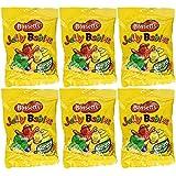 Bassetts Jelly Babies 215gr (7.6oz) Bag (Pack of 6)