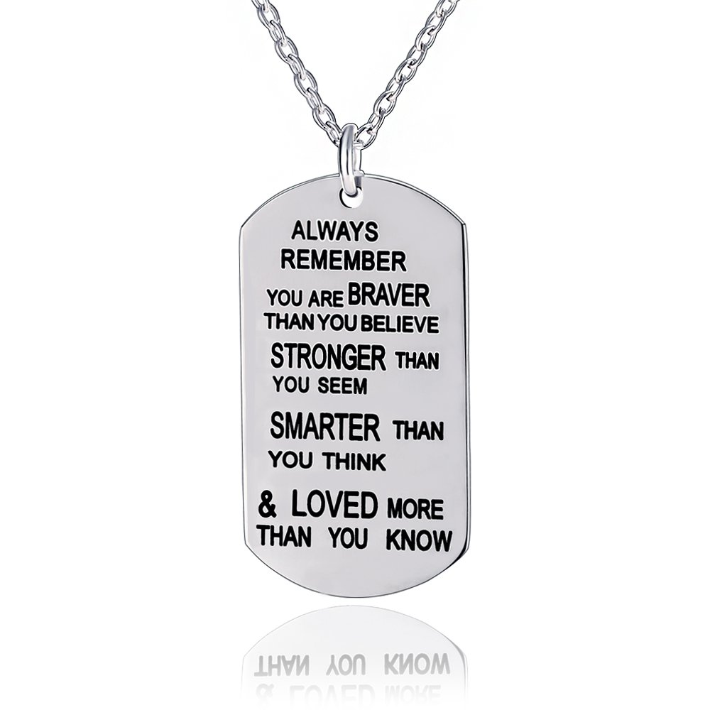 Always Remember You Are Braver Pendant