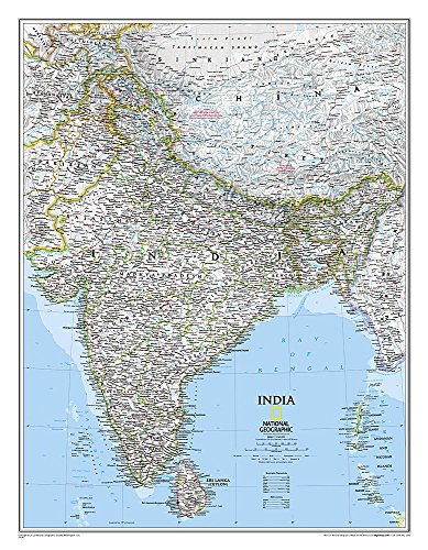 India Classic, Tubed (National Geographic Reference Map)