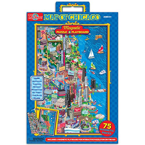 T.S. Shure Map of Chicago Magnetic and Playboard Puzzle