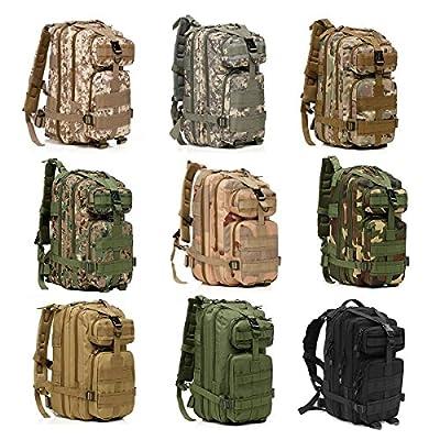 OuterStar Sport Outdoor Comfortable Waterproof Assault Pack Military Rucksacks Tactical Molle Backpack Camping Hiking Trekking Climbing Bag