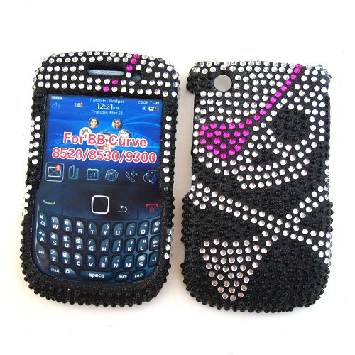 BlackBerry Curve 3G 9300 (T-Mobile) & Gemini Curve 8520 & 8530 Snap-on Protector Hard Case Rhinestone Cover