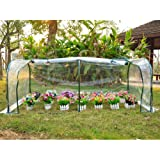 """Outsunny 78.7""""x39.4""""x31.5"""" Portable Tunnel Greenhouse Plants Flower Warm Green House, Transparent"""
