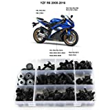 Blue /& Silver VITCIK Full Fairings Bolt Screw Kits for Yamaha FJR 1300 2006 2007 2008 2009 2010 2011 FJR 1300 06-11 Motorcycle Fastener CNC Aluminium Clips