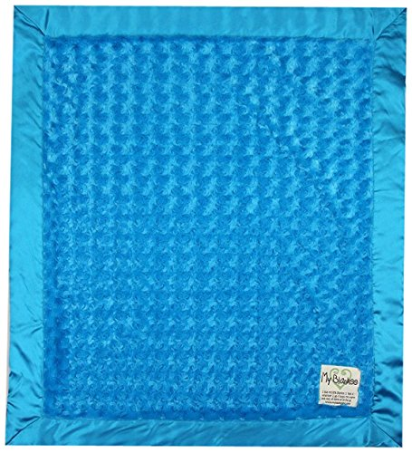 "My Blankee Luxe Snail Baby Blanket, 14"" x 17"", Turquoise"
