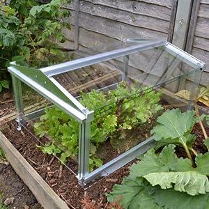Access long glass garden cloche minigreenhouse tunnel for Garden cloche designs