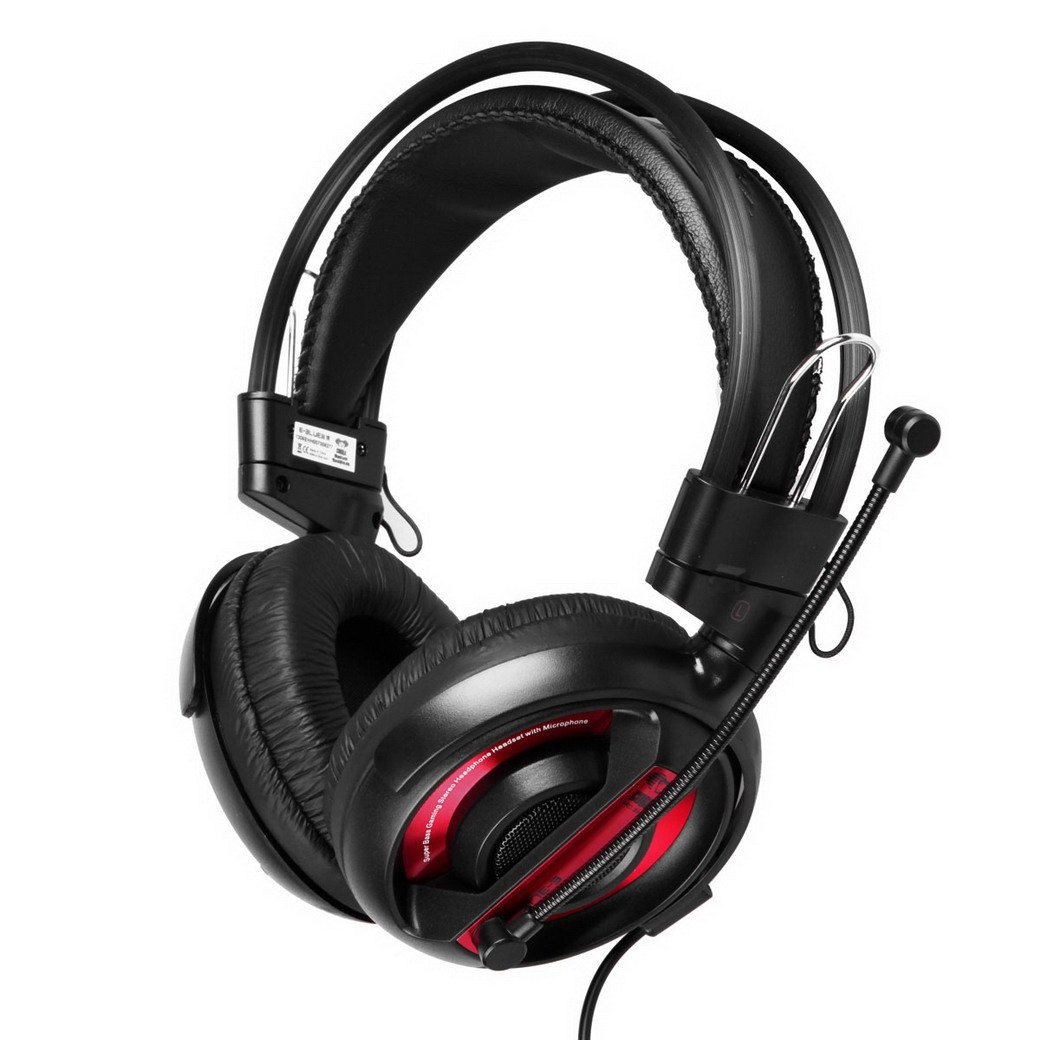 E 3LUE EHH007 Wired Over Ear Headphones 3.5mm Headset Earphone with Microphone for Laptop/PC   Redreview and more information