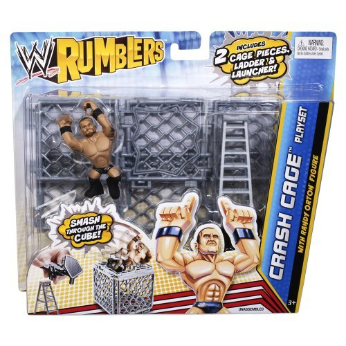 Imagen de Rumblers WWE Crash jaula Playset con Randy Orton Figura