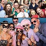 Photo-Booth-Props-Pupow-60PCS-coloridos-DIY-Kits-Fotos-apoyos-en-los-palillos-para-Reuniones-del-banquete-de-boda-Cumpleaos-Vestir-de-Navidad-Accesorios-Party-Favors-sombreros-gafas-Boca-jugador-de-bo
