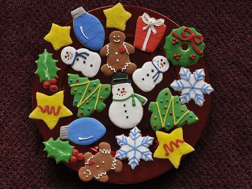 Christmas Holiday Sugar Cookie Sampler, 50 Cookies