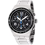 Swatch Irony The Magnificent Black Dial Stainless Steel Men's Watch YOS456G (Color: Black)
