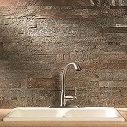 Aspect Peel and Stick Stone Kitchen Backsplash - Tarnished Quartz (5.9\