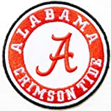 NCAA ALABAMA CRIMSON TIDE Football Team Logo Polo Shirt jacket Sew Iron on Embroidered Badge Sign