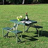Portable Folding Camping Picnic Table Party Field Kitchen Outdoor Garden BBQ Chairs Stools Set