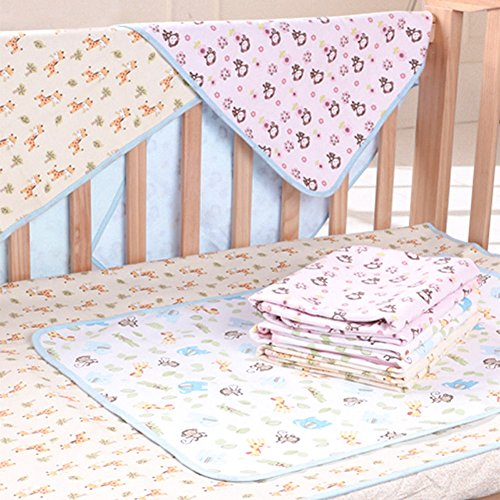 Elf Star Cotton Bamboo Fiber Breathable Waterproof Underpads Mattress Pad Sheet Protector for Children or Adults, Monkey Print, 27