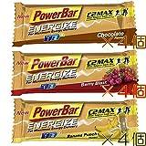 【 PowerBar ENERGIZE 】 エナジャイズ バー C2MAX 12本セット (バナナパンチ&チョコレート&ベリー、各4本)