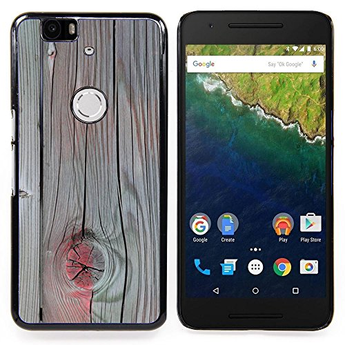 Accent Grey Wood Paint Cracked Custodia protettiva Progettato rigido in plastica King Case For Huawei Nexus 6P