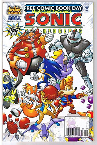 SONIC the HEDGEHOG, Ian Flynn, FCBD, 2008, VF/NM, more in store (Kirby Sonic compare prices)
