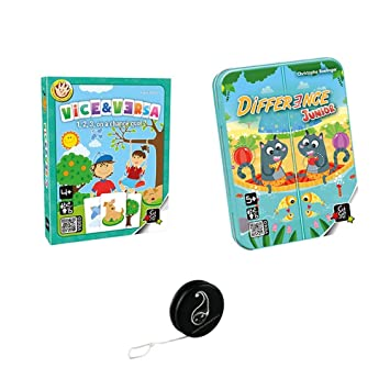 Lot de 2 jeux Gigamic: Différence Junior + Viceb & Versa + 1 Yoyo Blumie