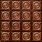 Very Cheap Decorative Plastic Ceiling Tiles #128 Antique Copper Ul Rated Can Be Glue on Any Flat Surfase.glue On,staple On,nail On,tape On!