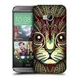 Head Case Designs Kitten Aztec Animal Faces Protective Snap-on Hard Back Case Cover for HTC One M8