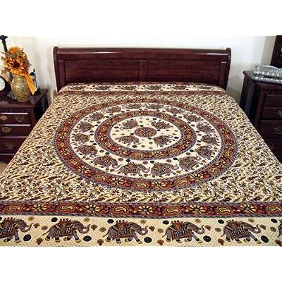 Amazon.com - MANDALA BEDDING COTTON BED SHEET LINEN COVER TAPESTRY -