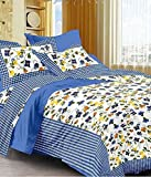 Kismat Collection Ethnic Style Cotton Printed Double Bed Size Bedsheet With 2 Pillow Cover