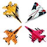 CORPER TOYS 4 Pieces Army Fighters Diecast Pull-Back Airplanes Playset Military Aircraft Toy Great for Kids Boy Metal Set Plane Collection (Color: Army Set, Tamaño: Toddler)