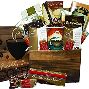 Coffee Lovers Care Package Snacks and Treats Gift Box Set with Mug from Art of Appreciation Gift Baskets